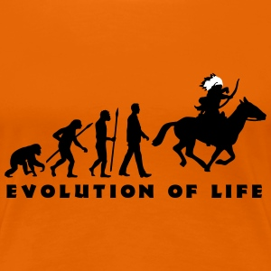 evolution_indianer_122014_c_2c T-Shirts - Frauen Premium T-Shirt