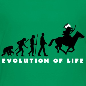 evolution_indianer_122014_a_2c T-Shirts - Teenager Premium T-Shirt