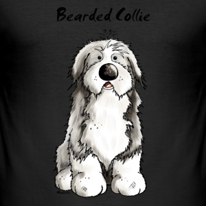 Süßer Bearded Collie - Hund T-Shirts - Männer Slim Fit T-Shirt