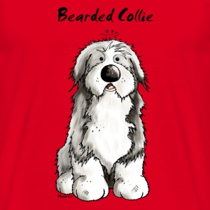 Cute Bearded Collie Dog T-Shirts - Men's T-Shirt