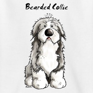 Söt Bearded Collie - Bearded Collies - Hundar T-shirts - T-shirt tonåring
