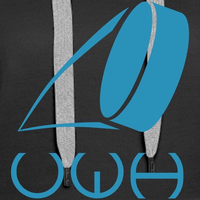 UWH Logo. Womens Hoodie - (LogoBlue - frt/lg)