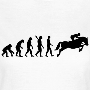 Evolution Springreiten T-Shirts - Frauen T-Shirt