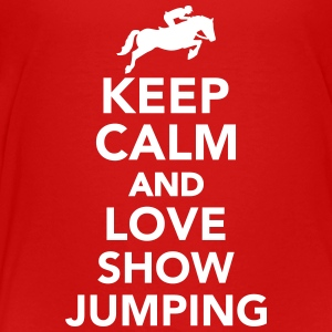 Keep calm and love Show Jumping T-Shirts - Kinder Premium T-Shirt