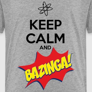 Teenager T-shirt Keep Calm Bazinga - Teenager Premium T-shirt