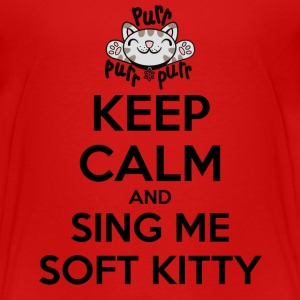 Teenager T-shirt Keep Calm Sing Soft Kitty - Teenager Premium T-shirt