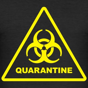 Biohazard Quarantine (zombie danger) T-shirts - slim fit T-shirt