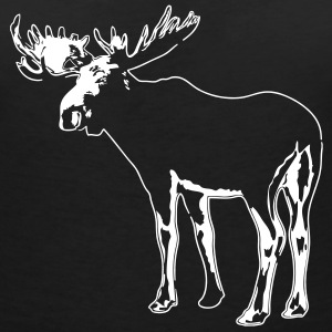 moose - elk - hunting - hunter T-Shirts - Women's V-Neck T-Shirt