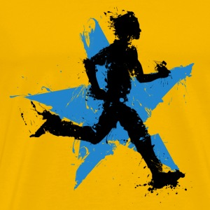 runner male with star T-shirts - Premium-T-shirt herr