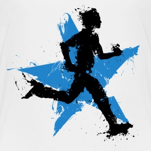 runner male with star T-Shirts - Kinder Premium T-Shirt