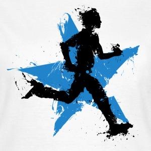 runner male with star Camisetas - Camiseta mujer
