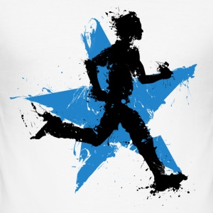runner male with star T-Shirts - Men's Slim Fit T-Shirt