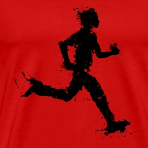 runner male T-shirts - Herre premium T-shirt