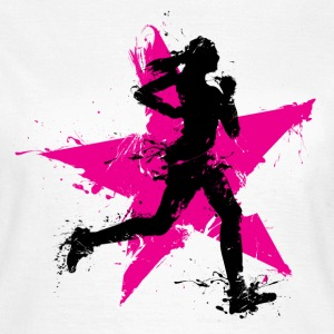 runner female with star Tee shirts - T-shirt Femme