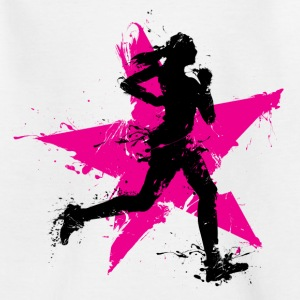 runner female with star Shirts - Kinderen T-shirt