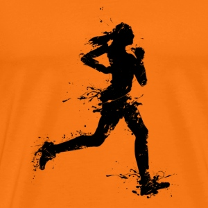 runner female T-shirts - Premium-T-shirt herr