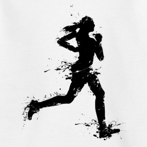 runner female T-Shirts - Kinder T-Shirt