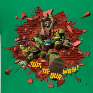 Ado Premium Tee Shirt TURTLES 'Out of our way!' - T-shirt Premium Ado