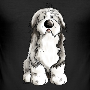Niedlicher Bearded Collie - Hund T-Shirts - Männer Slim Fit T-Shirt