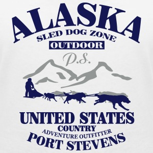 Husky - dog sled - Yukon Quest - Alaska  T-Shirts - Women's V-Neck T-Shirt