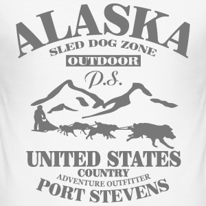 Husky - dog sled - Yukon Quest - Alaska  T-shirts - slim fit T-shirt