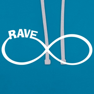 rave raver raven rave wear Hoodies & Sweatshirts - Contrast Colour Hoodie