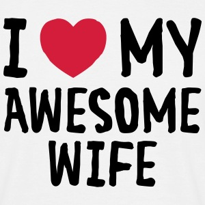 I Love (Heart) My Awesome Wife T-shirts - Herre-T-shirt