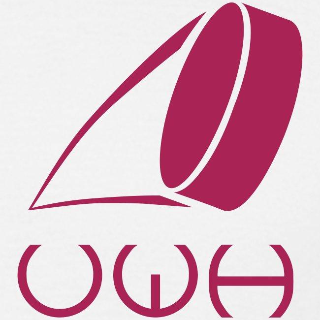 UWH Logo. Mens T-Shirt - (LogoPink - frt/sm)