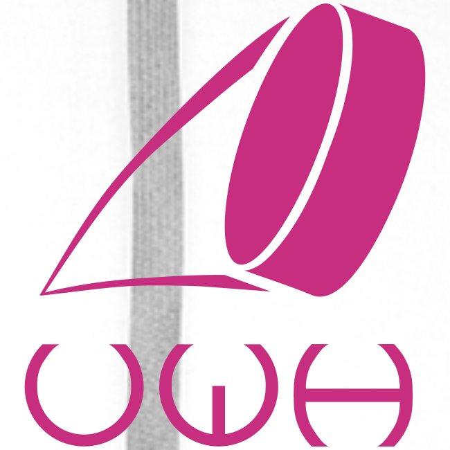 UWH Logo. Mens Hoodie - (LogoPink - frt/sm)