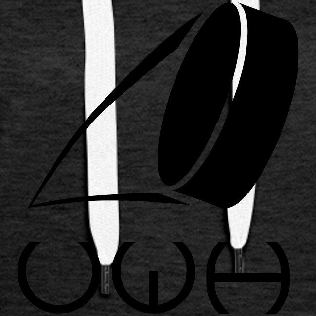 UWH Logo. Womens Hoodie - (LogoBlack - frt/lg)