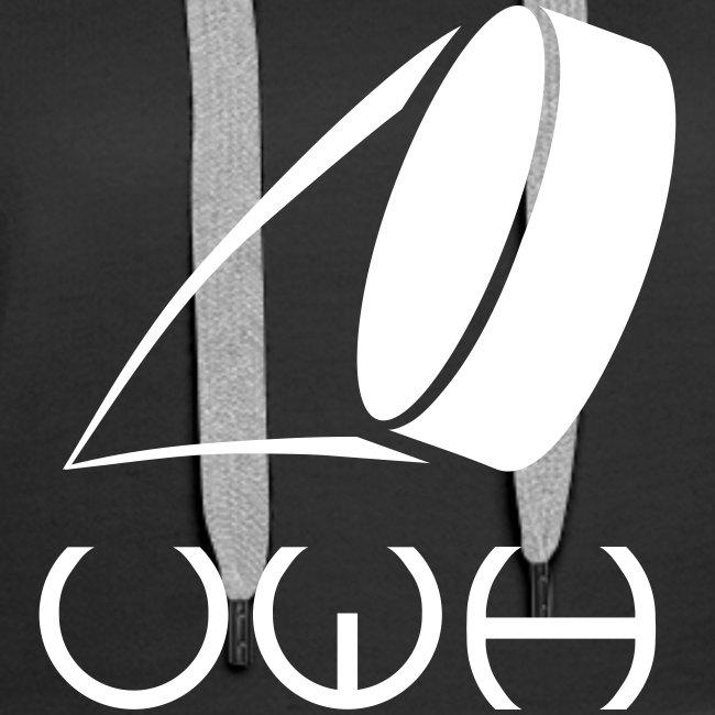 UWH Logo. Womens Hoodie - (LogoWhite - frt/lg)