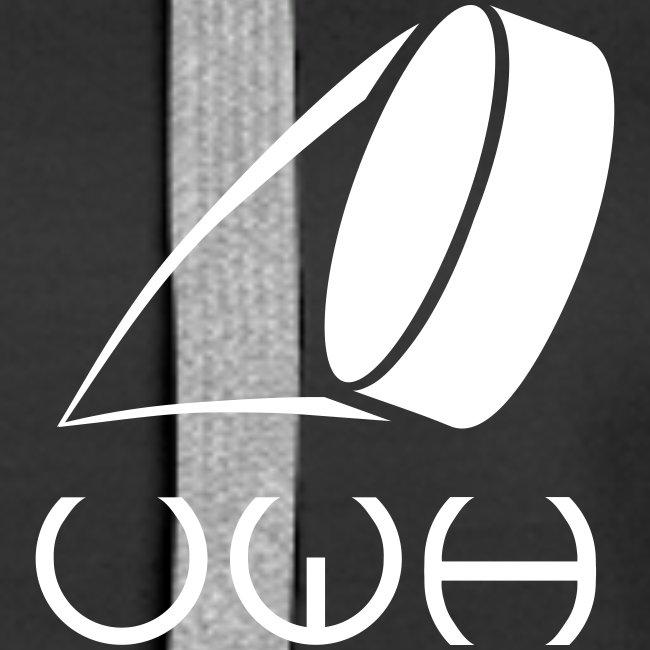 UWH Logo. Womens Hoodie - (LogoWhite - frt/sm)