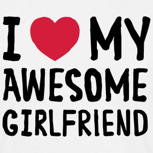 I Love (Heart) My Awesome Girlfriend T-shirts - Herre-T-shirt