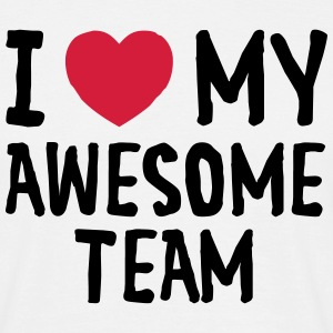 I Love (Heart) My Awesome Team T-shirts - Mannen T-shirt