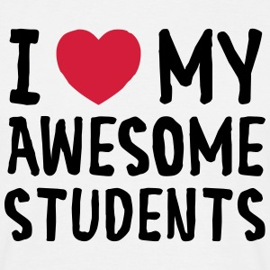 I Love (Heart) My Awesome Students T-Shirts - Men's T-Shirt