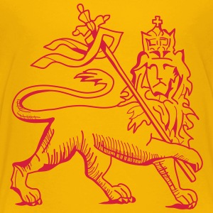 Conquering lion of judah,red on sunyellow T-Shirt - Teenager Premium T-Shirt
