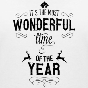 most_wonderful_time_of_the_year_b T-shirts - T-shirt med v-ringning dam