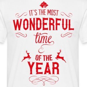 most_wonderful_time_of_the_year_r T-shirts - Mannen T-shirt
