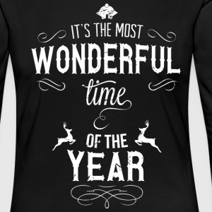 most_wonderful_time_of_the_year_w Shirts met lange mouwen - Vrouwen Premium shirt met lange mouwen