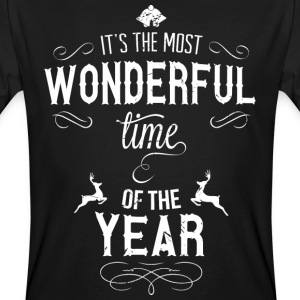 most_wonderful_time_of_the_year_w T-shirts - Mannen Bio-T-shirt