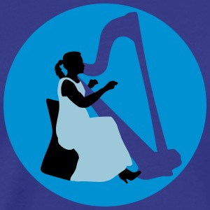 female_harp_player_122014_b_3c T-Shirts - Männer Premium T-Shirt