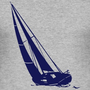 sailing - sailingboat - maritime - sailor T-shirts - Herre Slim Fit T-Shirt