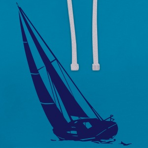 voile - sailing - sailingboat - maritime  Sweat-shirts - Sweat-shirt contraste