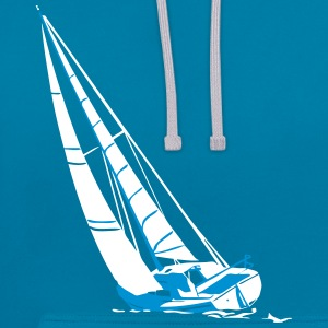 sailing - sailingboat - maritime - sailor Hoodies & Sweatshirts - Contrast Colour Hoodie