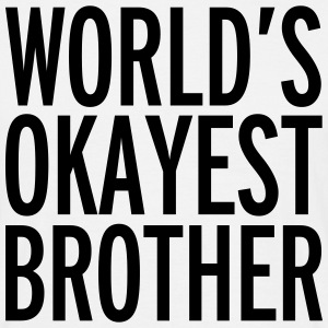 World's Okayest Brother  T-shirts - Herre-T-shirt