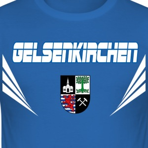 Gelsenkirchen Vector T-Shirts - Männer Slim Fit T-Shirt