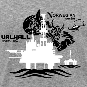 Valhall Oil Rig Platform Noth Sea Norway - Men's Premium T-Shirt