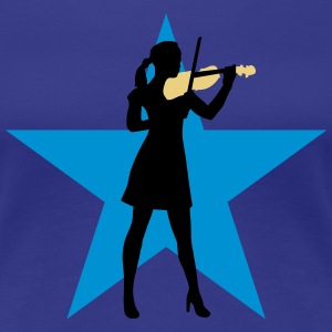 female_violin_player_122014_c_3c T-Shirts - Frauen Premium T-Shirt