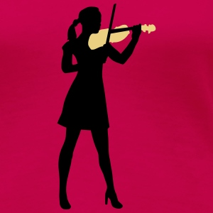 female_violin_player_122014_b_2c T-Shirts - Frauen Premium T-Shirt