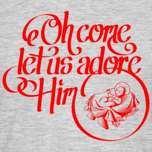 Oh come let us adore Him T-shirts - Mannen T-shirt